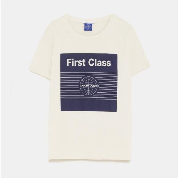 1d4a7abd Zara Tops | Basics One Left Panam Graphic Tee | Poshmark